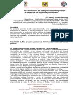 Reflexiones Sobre Tradiciones Del Trabajo Social Contemporaneo Desde El Debate de Los Proyectos Profesionales