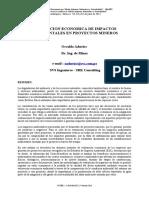 Valoracion Economica de Impactos Ambientales en Proyectos Mineros