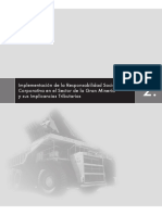 Implementacion de La Responsabilidad Social Corporativa en Mineria
