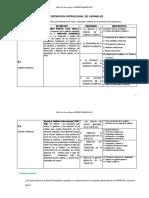 Definición Operacional de Variables MODIFICADA