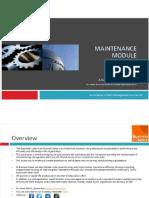 Maintenence Manual