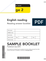 Sample Ks2 Englishreading Readinganswerbooklet