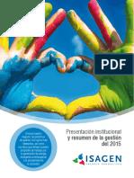 Presentacion Institucional y Resumen de La Gestion 2015