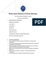 Programa Mercadotecnia I UASD