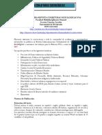 Convocatoria Revista Conjeturas Sociologicas Segundo Número Mayo Agosto 2017