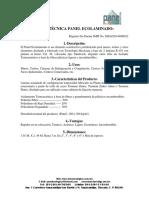 Ficha Técnica Del Panel Ecolaminado 08-Mar-16. (1)