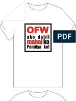 OFW ako... T-Shirt Designs
