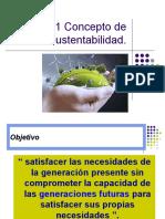 1.1 Concepto de Sustentabilidad.