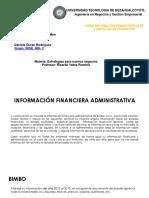 Informacion financiera administrativa de 5 empresas (productos=)