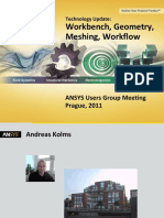 2011 Technology Update- Workbench, Geometry, Meshing, Workflow. ANSYS Users Group Meeting Prague, 2011