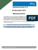 PIIT December 2015 Examination Marking Scheme - Final