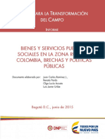 Bienes Y Servicios Públicos Sociales en La Zona Rural de Colombia 2016-01-20