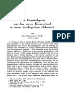 Das Gemeindegebet Aus Dem Ersten Klemensbrief in Einem Karolingischen Gebetbuch LEO EIZENHOFER O.S.B.