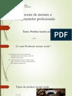 ATESTAT Produse lactate acide power-point