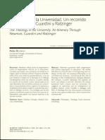 Teologia en La Universidad. Pablo Blanco