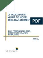 Validators Guide to Model Risk Management by RiskSpan