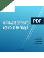 Misturas de Defensivos Agricolas Em Tanque