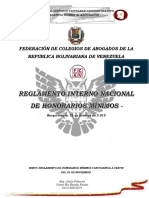 Nuevo Reglamento de Honorarios Mínimos Con Vigencia a Partir Del 09 de Noviembre