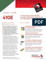 Snapdragon 410e Processor Product Brief