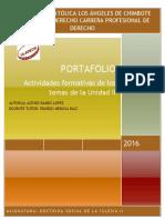 Formato de Portafolio II Unidad 2016 DSI II