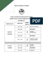 NECTA PRIMARY SCHOOL LEAVING EXAMINATION TIMETABLE-  Psle 2017