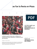 A Chuletas Fue La Fiesta en Plaza Italia - Www.lacuarta