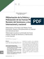 La Militarizacion de La Policia y Las Fuerzas Armadas