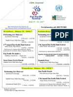 Pan-Pacific Festival Events