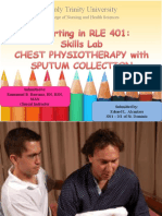 Chest Physiotherapy With Sputum Collection