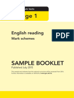 Sample Ks1 Englishreading Markscheme