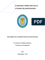Reglamento de Investigacion Vicerectorado