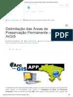 Delimitação App – Buffer – ArGIS