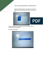 Informe de Instalación de La Nueva Maquetación Windows 7 en Modelo Dell E5570