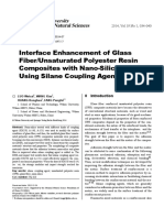 Interface Enhancement of Glass Fiber/Unsaturated Polyester Resin Composites with Nano-Silica Treated Using Silane Coupling Agent