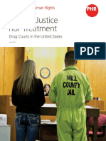 """Neither Justice Nor Treatment –Drug Courts in the United States"""