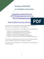 WorkCentre 7830-7835 071.Xxx to 073.Xxx Upgrade Instructions v1
