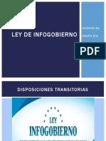 Ley de Infogobierno Disposiciones g6