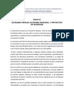 Ensayo Tuo - Economia Peruana, Economia Regional y Proyectos de Inversion