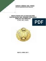 FUERZA AÉREA DEL PERÚ resultados PSICOLOGICO