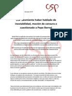 OSP desmiente una moción de censura