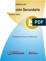 Diseño Curricular-Educación Secundaria Técnico Profesional