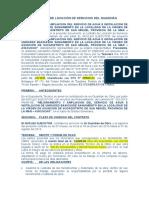 Contrato Del Guardián Puesto de Salud de Tiquihua