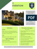 Burglary Crime Prevention Bulletin