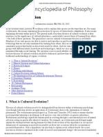 Cultural Evolution (Stanford Encyclopedia of Philosophy)