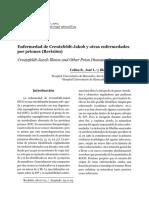Colina, 2003 Enfermedad de Creutzfeldt-Jakob y otras enfermedades por priones