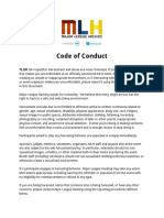 Mlh Code of Conduct