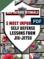 5 Most Important Self Defense Lessons From Jiu Jitsu 1.0
