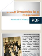 Group Dynamics in a Classroom