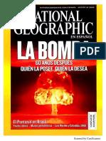 National Geographic Agosto 2005 Bomba Atómica Arte Rupestre Energía Del Futuro