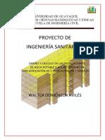 Diseño y Calculo de las instalaciones de Agua Potable y Agua Servidas en una edificacion de 5 Pisos altos, Pb y Terraza.pdf